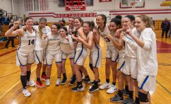 Housatonic celebrates after winning the Berkshire League title win a win over Northwestern Friday at Northwestern Regional High School in Winsted. Jim Shannon Republican American