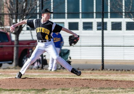 Kaynor Tech's pitcher Nathan Gairing throws from the mound, during a CTC league Baseball game between Wilcox Tech and Kaynor Tech at Kaynor Tech in Waterbury on Thursday. Bill Shettle Republican-American