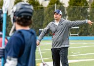 The new lacrosse coach Torrey Martone at Cheshire Academy in Cheshire on Thursday. Bill Shettle Republican-American