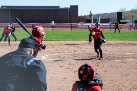 Northwestern pitcher Lexi Fortier #11 delivers a pitch from the mound, during a Girls BL Softball game between Northwestern and Wamogo at Wamogo High School in Litchfield on Wednesday. Northwestern beat their rival Wamogo 9-5. Bill Shettle Republican-American