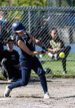 Kennedy's Jalissa Robles #16 gets a key hit clearing the bases, that turned into a triple, during a Girls NVL Softball game between WCA and Kennedy at Roberto Clemente Field in Waterbury on Wednesday. Bill Shettle Republican-American