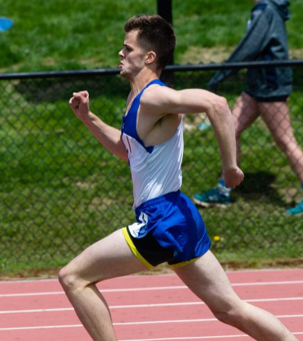 Litchfield's Jonathan Dieck competes in the 800m run during Berkshire League Track and Field Championships Saturday at Litchfield High School. Jim Shannon Republican American