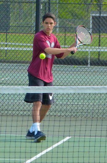 Torrington boys tennis - Joshua Hosein 1