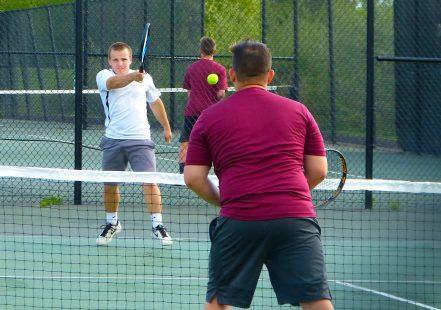Woodland boys tennis - Richie Weishner Torrington boys tennis - Jackson Keller