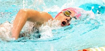 Watertown's Gabrielle Malenda competes in the 100m freestyle during their NVL meet with Sacred Heart Tuesday at Watertown High School. Jim Shannon Republican-American