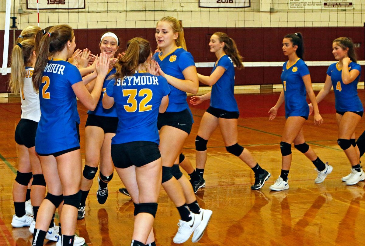 Seymour volleyball fends off Granby to reach Class M semis - Waterbury Republican American