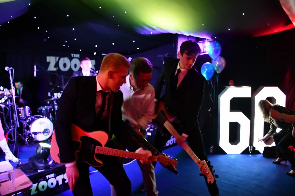 Graham with the Zoots, party band in wargrave, party band in berkshire, band for 60th, the zoots