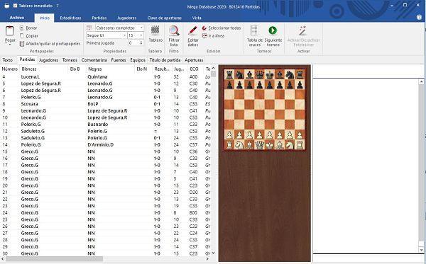 Trabajar apuros de tiempo con Chessbase