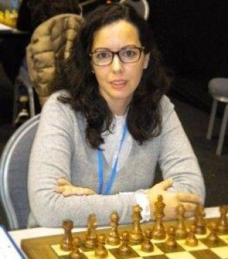 Niala participando con la selección española en el campeonato europeo por equipos