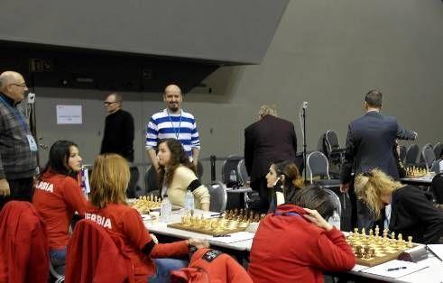 David, con la selección española de ajedrez en las últimas Olimpiadas.