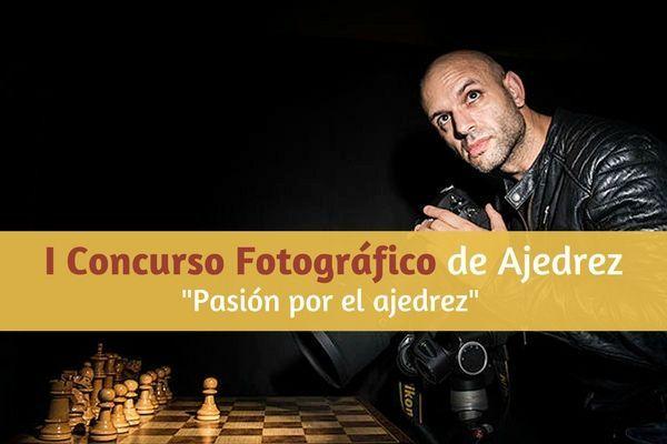 David Llada haciendo fotos de ajedrez