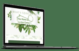 Laptop displaying THGC Newsletter
