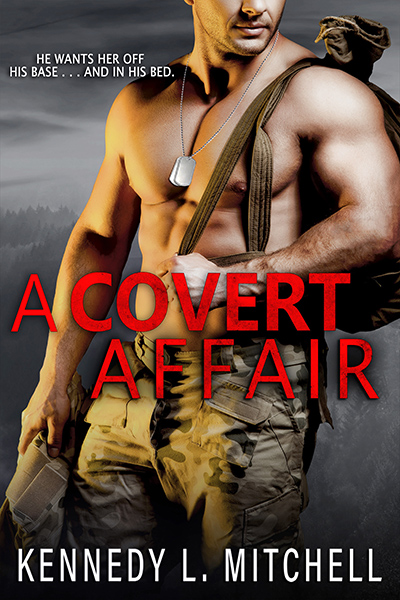 New Cover to A COVERT AFFAIR, a stand alone adult romantic suspense by Kennedy L. Mitchell