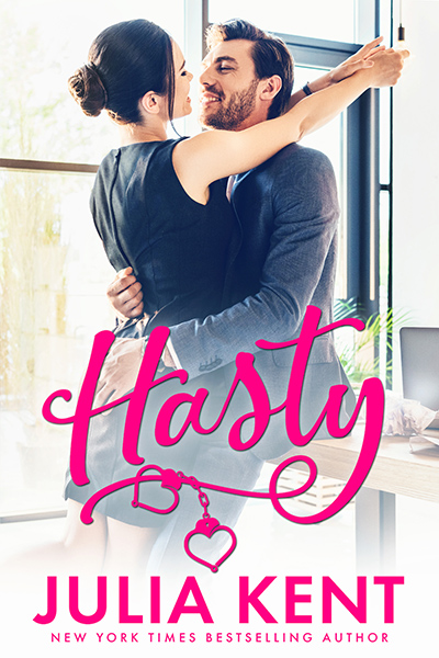 Cover to HASTY, the fourth book in the adult comedy romance series, Do-Over, releasing July 28, 2020