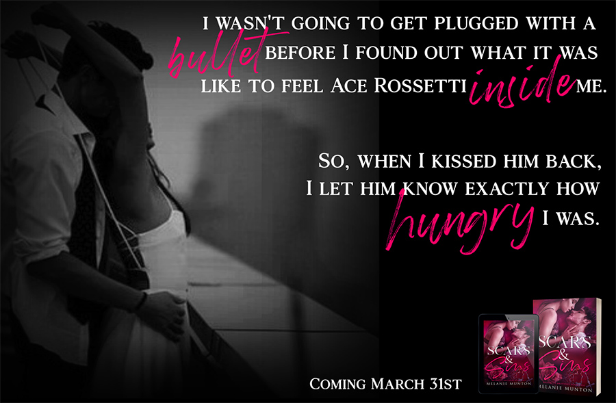 Teaser from SCARS & SINS, the second book in the adult contemporary romance series, Brooklyn Brothers, by Melanie Munton