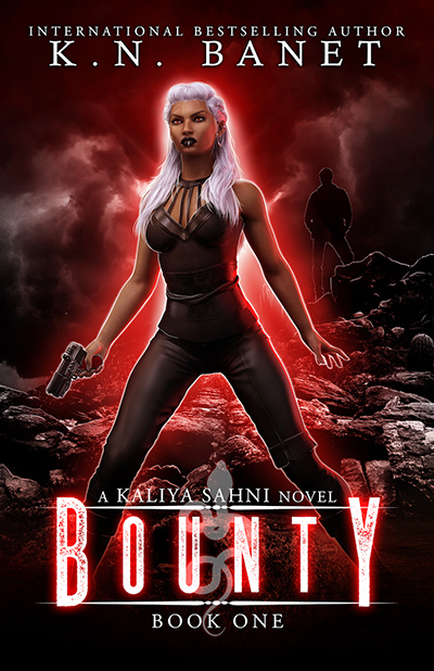 Cover for BOUNTY, the first book in the adult urban fantasy series, Kaliya Sahni, by K.N. Banet