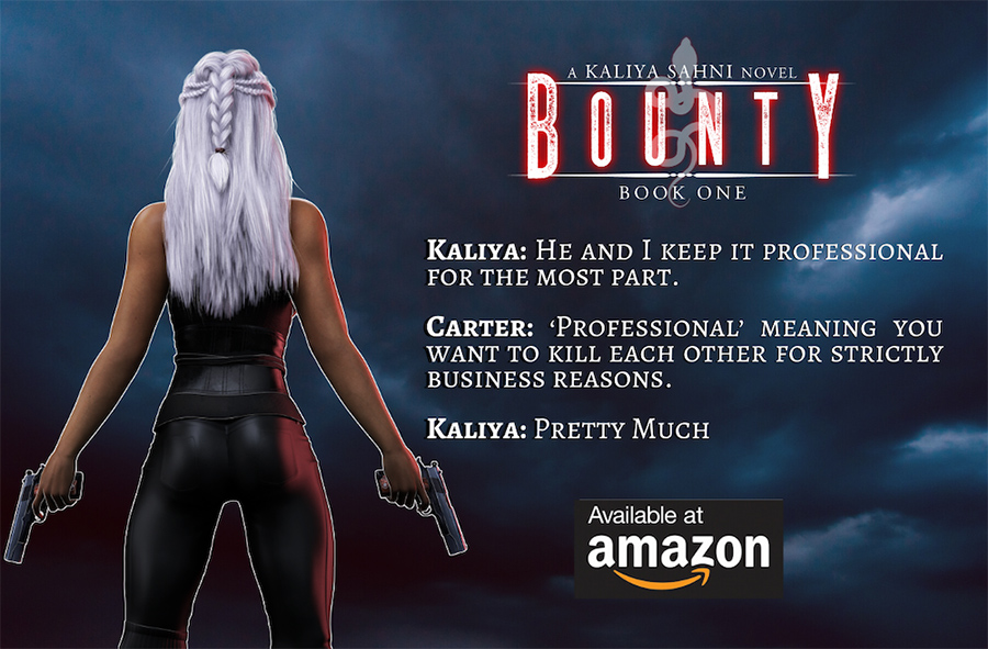 Teaser from BOUNTY, the first book in the adult urban fantasy series, Kaliya Sahni, by K.N. Banet