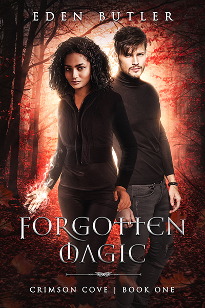 Cover for FORGOTTEN MAGIC, the first book in the adult paranormal romance series, Crimson Cove, releasing June 28, 2020