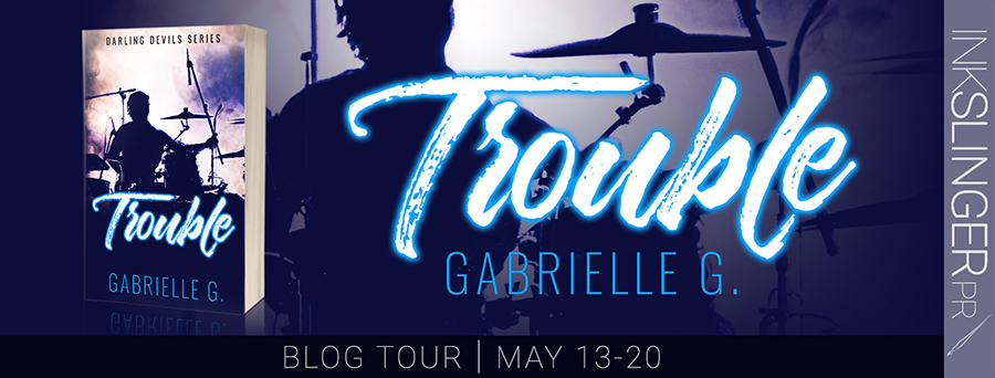 Welcome to the blog tour for TROUBLE, the second book in the adult contemporary rockstar romance series, Darling Devils, by Gabrielle G.