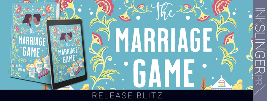Today is release day for THE MARRIAGE GAME, a stand-alone adult contemporary romance, by Sara Desai, One of Oprah Magazine's Most Anticipated Romances of 2020