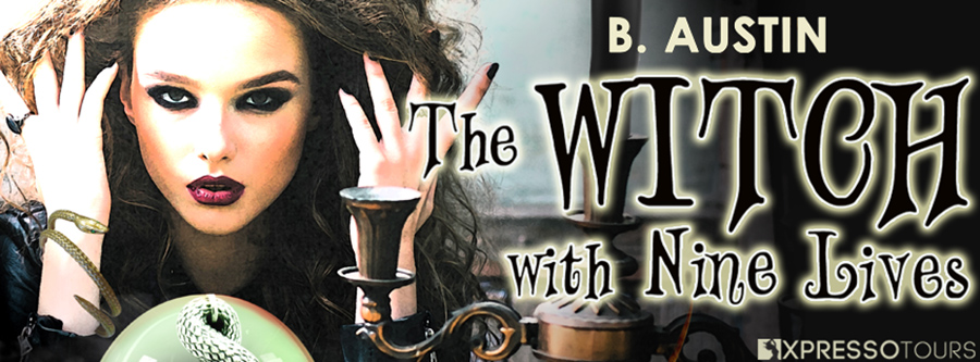 Author B. Austin is revealing the cover to THE WITCH WITH NINE LIVES, the second book in her young adult fantasy series, A Dysfunctional Family of Witches, releasing August 27, 2020