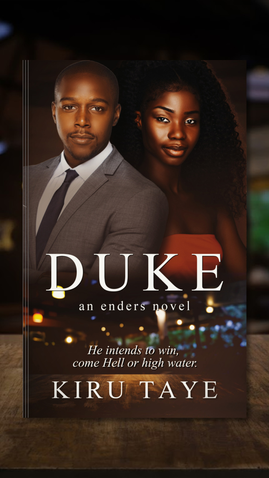 DUKE, the first book in the adult contemporary romance series, Enders, by Kiru Taye
