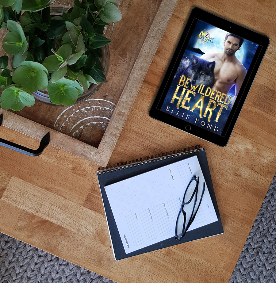 BEWILDERED HEART, the third book in the adult paranormal romance trilogy, Dark Wing, by Ellie Pond
