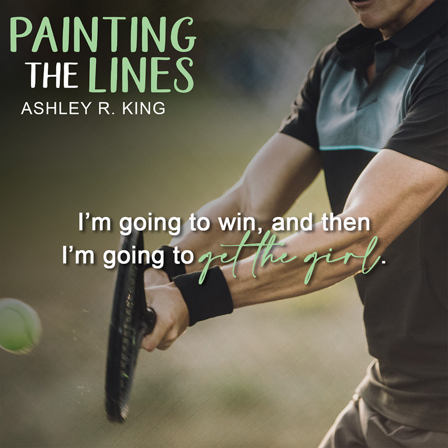 PAINTING THE LINES, the first book in the adult contemporary sports romance series, Ace of Hearts, by Ashley R. King