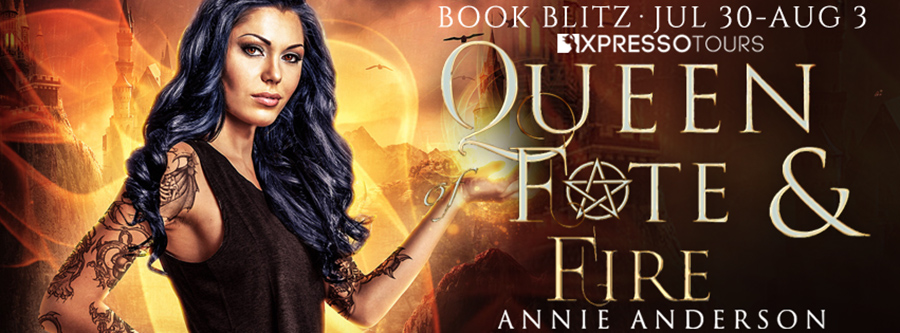 Welcome to the book blitz for QUEEN OF FATES AND FIRE, the sixth book in the adult urban fantasy series, Rogue Ethereal, by Annie Anderson