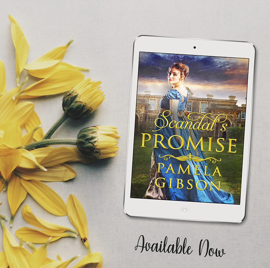 SCANDAL'S PROMISE, a stand-alone adult historical romance, by Pamela Gibson
