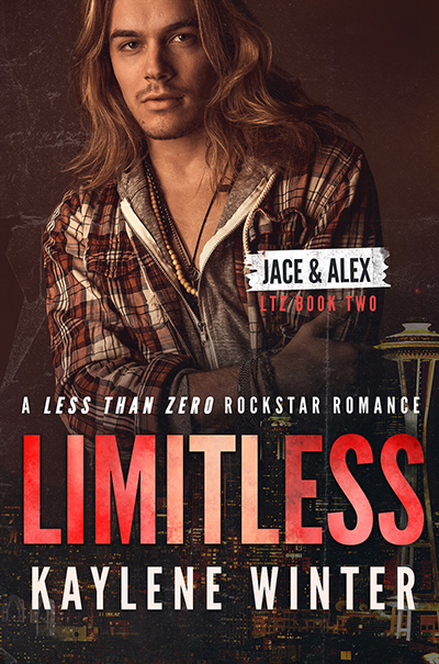 LIMITLESS, the second book in the adult contemporary rockstar romance series, Less Than Zero, by Kaylene Winter
