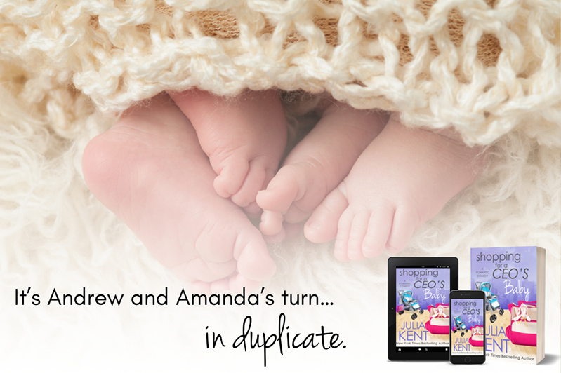 SHOPPING FOR A CEO'S BABY, the sixteenth book in the adult romantic comedy series, Shopping for a Billionaire, by New York Timesand USA Today bestselling author, Julia Kent
