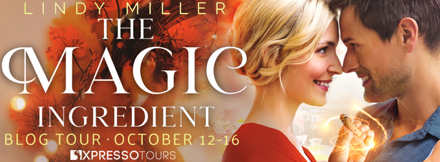 Welcome to the blog tour for THE MAGIC INGREDIENT, the first book in the adult contemporary holiday romance series, Bar Harbor, by Lindy Miller