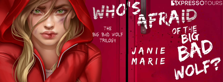 Author Janie Marie is revealing the cover to WHO'S AFRAID OF THE BIG BAD WOLF, the first book in her young adult fairy tale romance trilogy, The Big Bad Wolf, releasing October 27, 2020