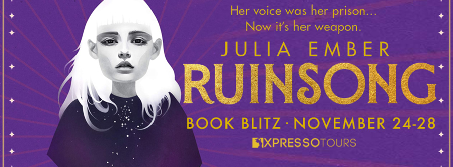 Welcome to the book blitz for RUINSONG, a stand-alone young adult fantasy/LGBTQ+ romance, by Julia Ember