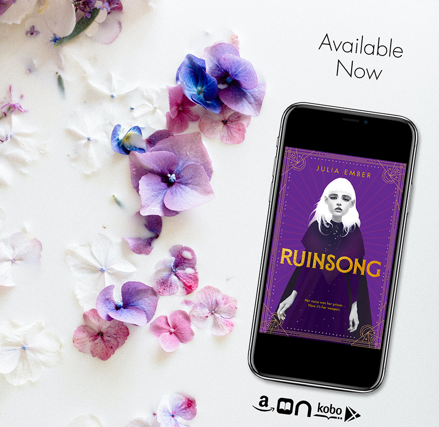 RUINSONG, a stand-alone young adult fantasy/LGBTQ+ romance, by Julia Ember