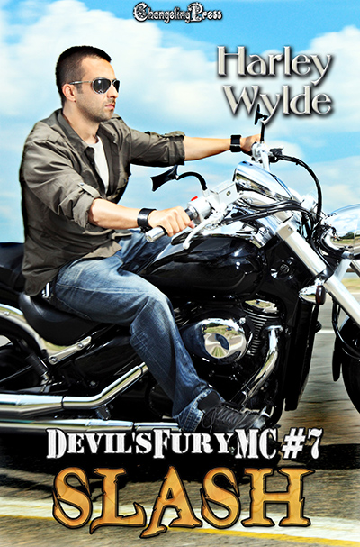SLASH, the seventh book in the adult contemporary romance series, Devil's Fury MC, by Harley Wylde