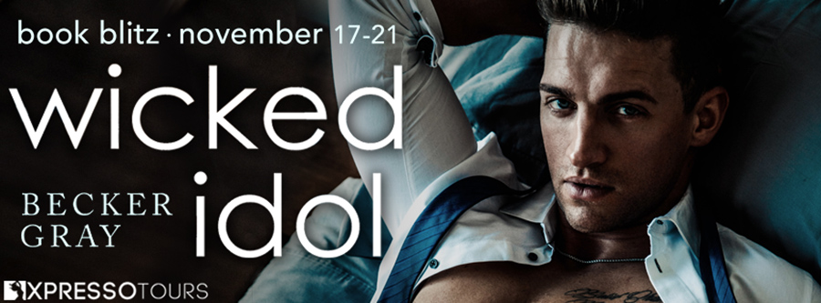 Welcome to the book blitz for WICKED IDOL, the first book in the new adult contemporary romance series, Hellfire Club, by Becker Gray