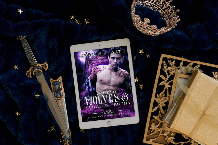 WICKED WOLVES AND TANGLED TRUTHS, the first book in the young adult urban fantasy/paranormal romance series, Blood and Magic: Hellbound, by Danielle Annett