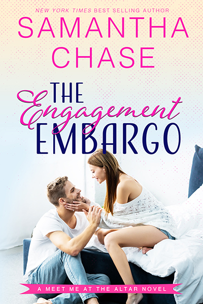 THE ENGAGEMENT EMBARGO, the first book in the adult contemporary romance series, Meet Me at the Altar, by New York Times and USA Today bestselling author, Samantha Chase
