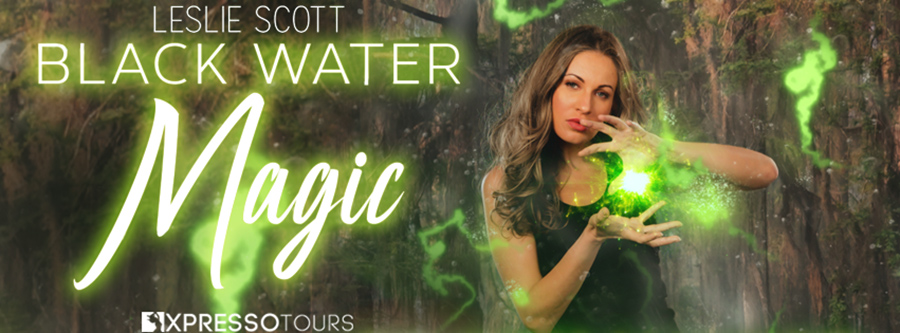 Author Leslie Scott is revealing the cover to BLACK WATER MAGIC, the first book in her adult paranormal romance/urban fantasy series, Teagan Blackwater, releasing January 12, 2021