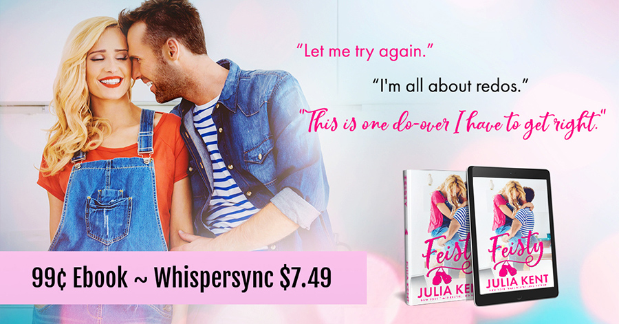 FEISTY, the third book in the adult comedy romance series, Do-Over, by New York Times and USA Today bestselling author, Julia Kent is just $7.49 with Whispersync