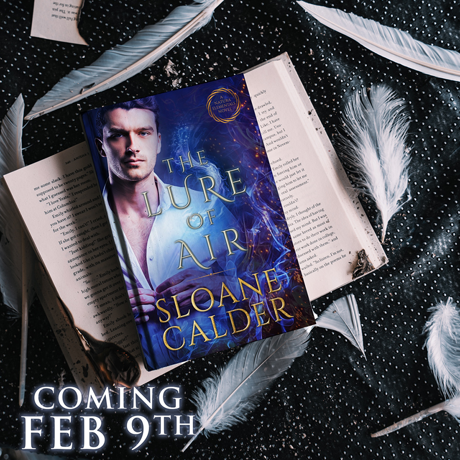 THE LURE OF AIR, the second book in her adult paranormal romance series, Natura Elementals, coming February 9, 20201