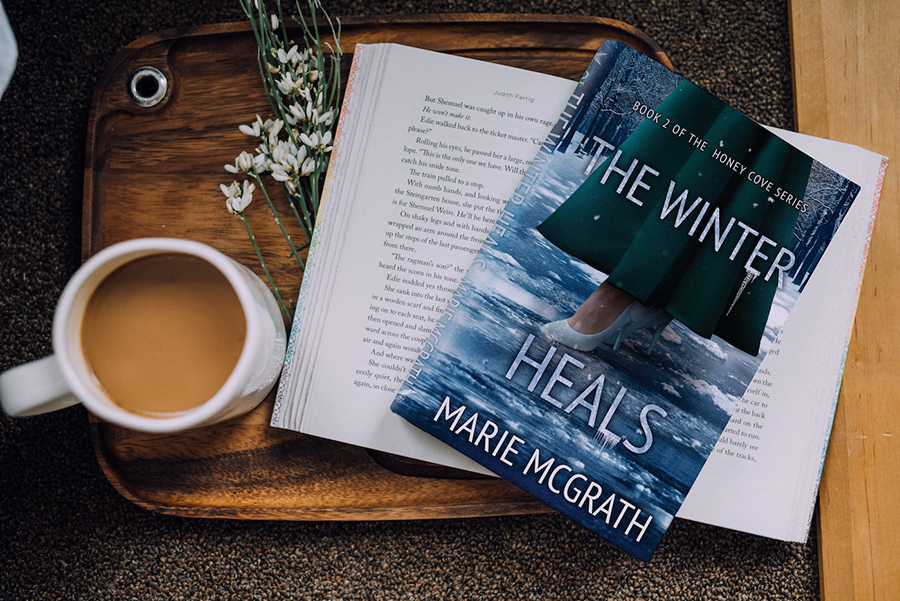THE WINTER HEALS, the second book in the young adult contemporary romance series, Honey Cove, by Marie McGrath