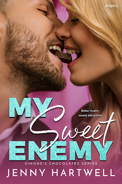 MY SWEET ENEMY, the first book in the new adult contemporary romance series, Simone's Chocolates, by Jenny Hartwell