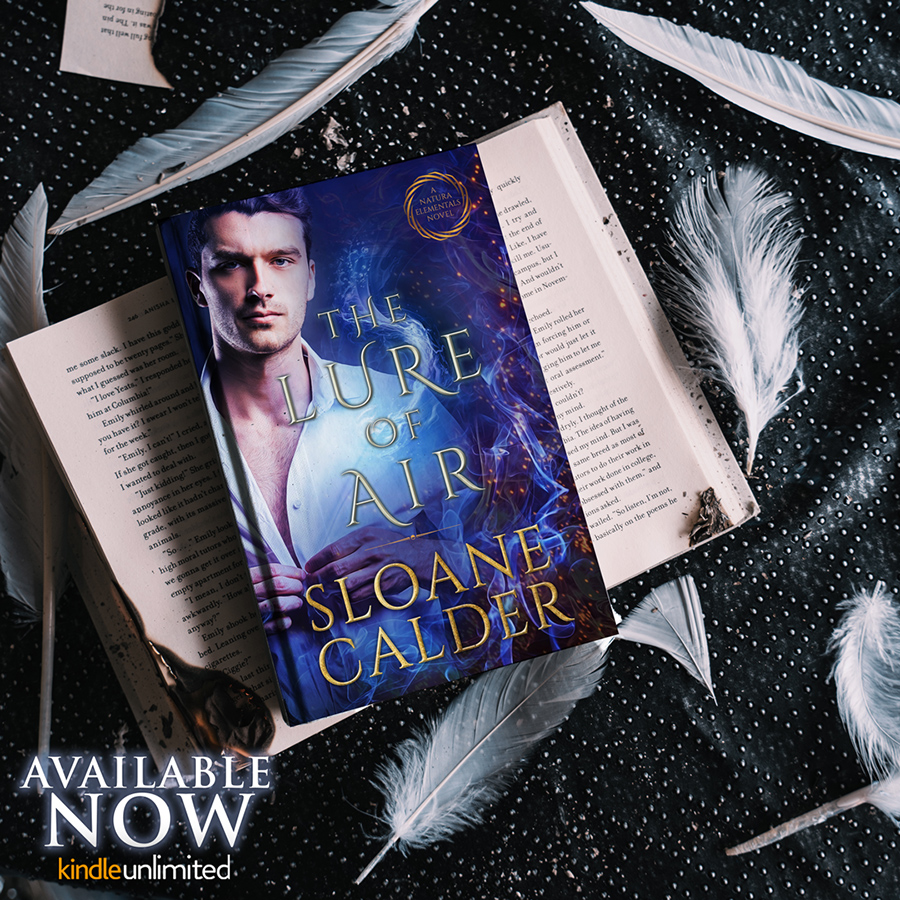 THE LURE OF AIR, the second book in her adult paranormal romance series, Natura Elementals, by Sloane Calder, is now available