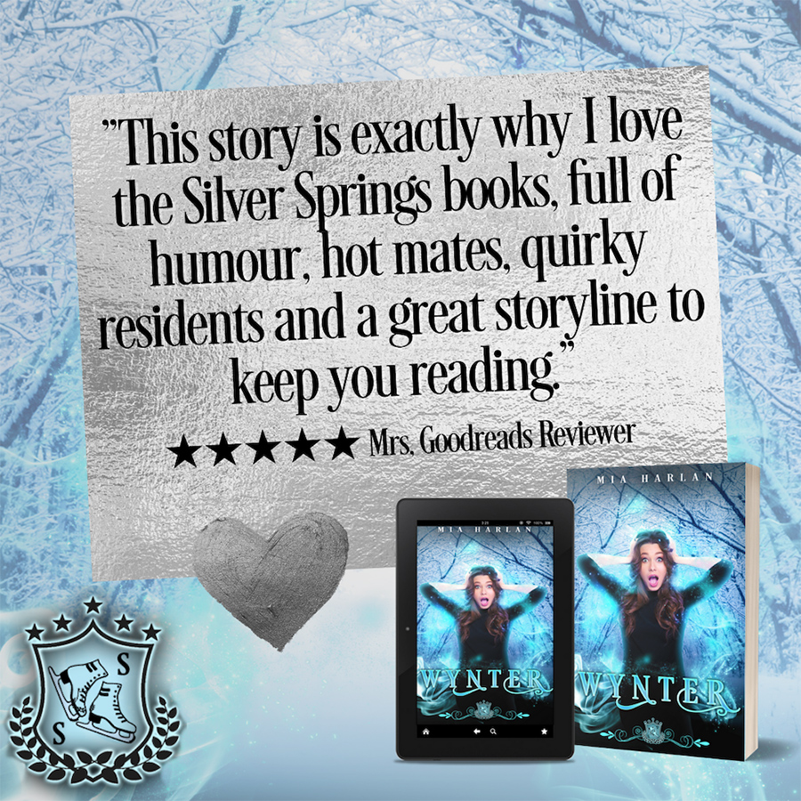 Review of WYNTER, the first book in the adult paranormal romantic comedy series, Silver Skates, by Mia Harlan