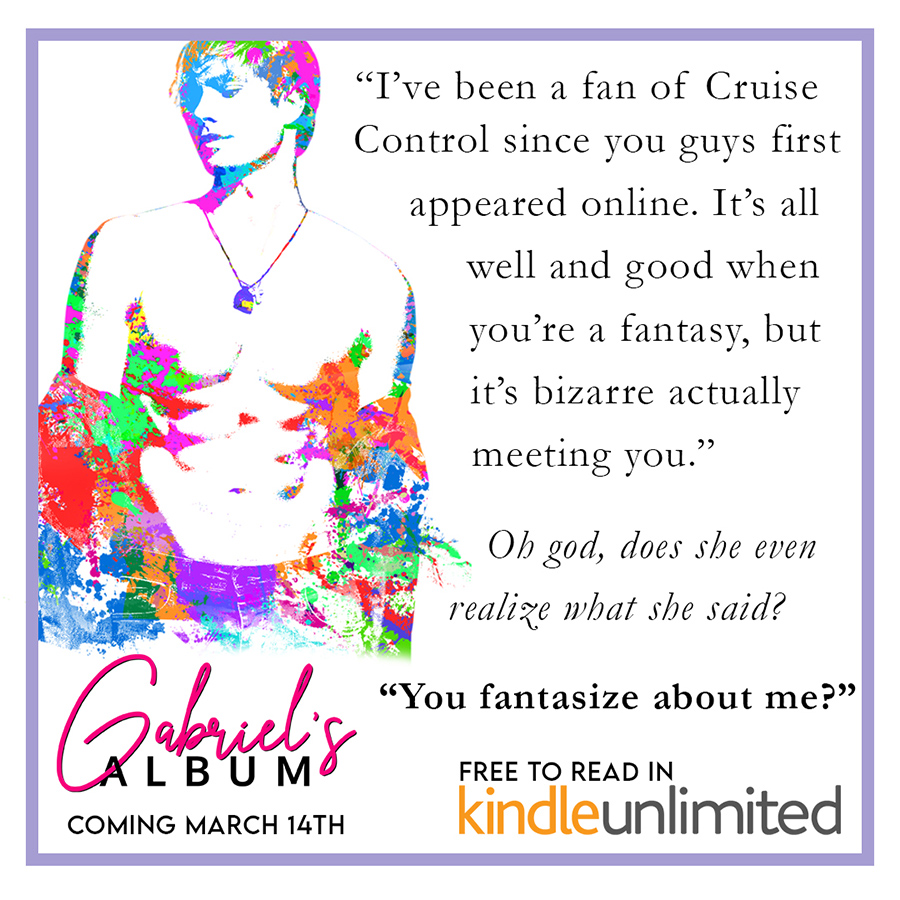 Teaser from GABRIEL'S ALBUM, the first book in the new adult contemporary romance series, Cruise Control Heroes, by Sian Ceinwen
