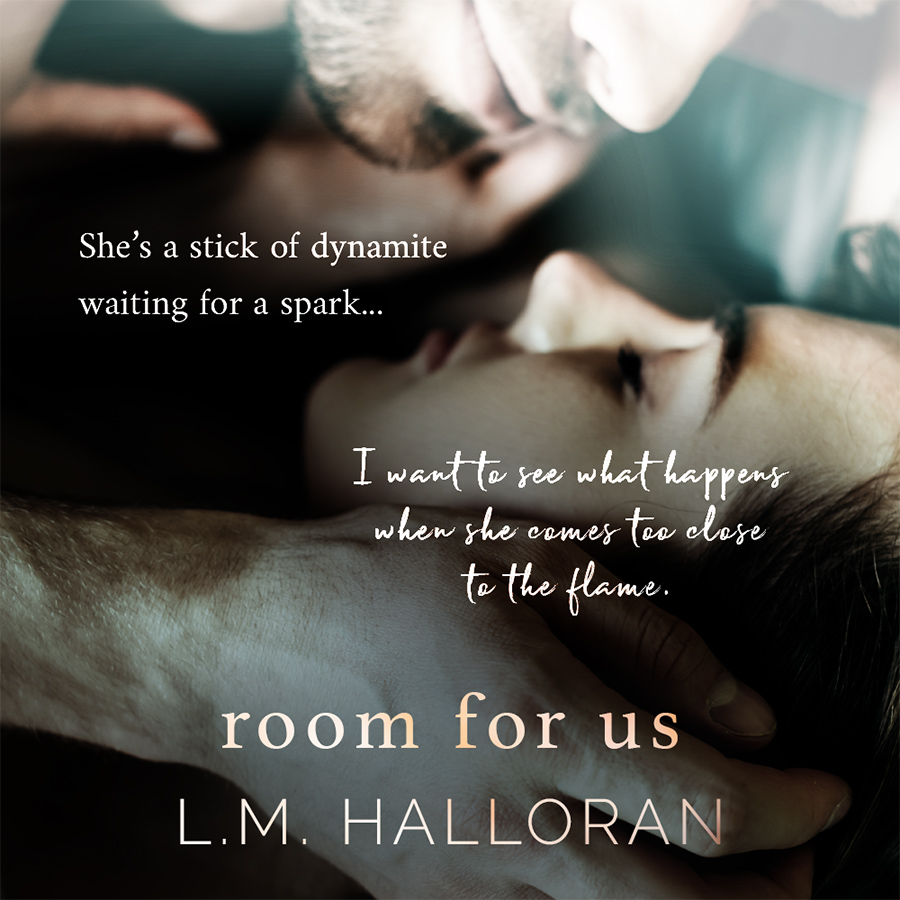 Teaser from ROOM FOR US, the first book in the adult contemporary romance series, Rose House Inn, by L.M. Halloran