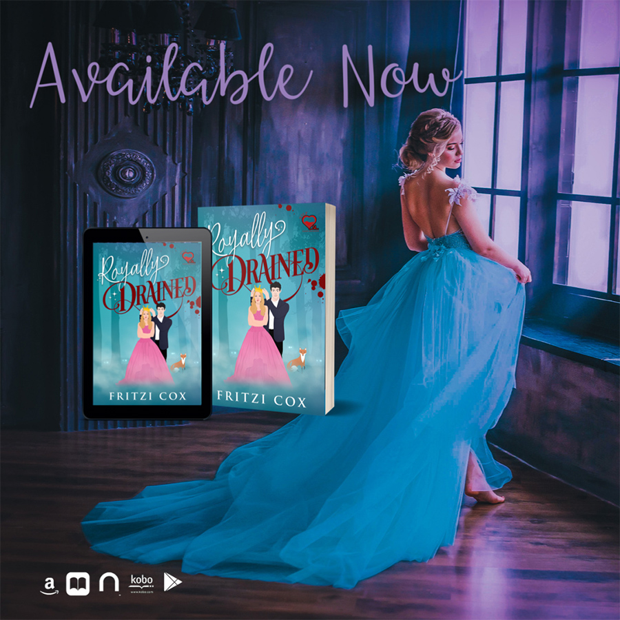 ROYALLY DRAINED, the first book in the adult paranormal romance series, V.I.L.F., by Fritzi Cox is available now!